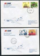 1986 Singapore Sweden SAS First Flight Covers (2) - Singapore (1959-...)