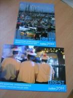 Fêtes Maritimes Internationales Brest Juillet 2016 2 Cartes - Brest
