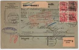 """DR, 1901, Ausland-Paketkarte """" Crefeld """" , #3107 - Deutschland"""