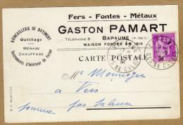 Carte Fers Fontes Métaux Outillage Ménage Chauffage Bapaume à Vers Par Saleux Somme - France