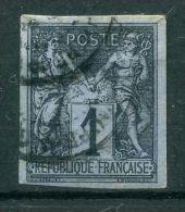 FRANCE ( COLONIES ) :  Y&T N°  37  TIMBRE  AVEC  BELLE  OBLITERATION  ,  A  VOIR .