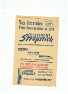 VOS COURROIES  TRAITEMENT STRAPSTICK Vve  GHISLAIN HENAUT  à COUSOLRE (NORD) - Advertising