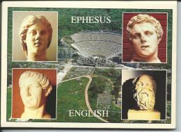 EPHESUS Ephèse Turquie - Dépliant 12 Cartes Monuments Ville Ancienne - Temple D´Artémis (voir Détails 24scan) GF125 - Cartoline