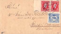 MiNr. 25  P 3 Auf Brief Slowakei - Storia Postale