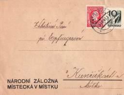 MiNr. 40 + 58 Auf Brief Slowakei - Storia Postale