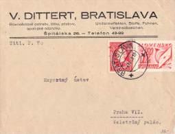 MiNr. 40 + P 33 Auf Brief Slowakei - Storia Postale
