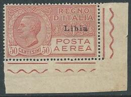 1928-29 LIBIA POSTA AEREA EFFIGIE 50 CENT MNH ** - VA43-9 - Libya