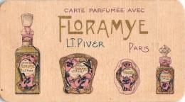 "02078 ""CARTE PARFUMEE AVEC FLORAMYE L.T.PIVER PARIS - PROFUMERIA ERNESTO CARRERA CASALE"" ANNI '20 XX SECOLO. CART.  ORIG - Profumeria Antica (fino Al 1960)"