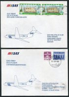 1988 Saudi Arabia Riyadh / Copenhagen SAS First Flight Covers (2) - Saudi Arabia