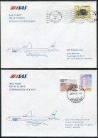 1985 Saudi Arabia Riyadh / Copenhagen SAS First Flight Covers (2) - Saudi Arabia