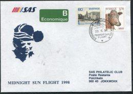 1998 Sweden Kiruna Midnight Sun Poalr Circle SAS Flight Cover