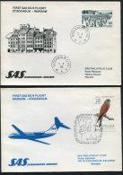 1975 Sweden Poland Stockholm / Warsaw SAS First Flight Covers (2)