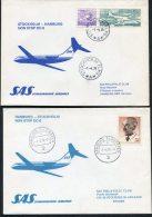 1976 Sweden Germany Stockholm / Hamburg SAS First Flight Covers (2)