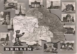 Berlin - S/w Mehrbildkarte 179 - Mitte