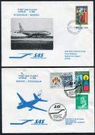 1980 Sweden Spain Stockholm / Madrid SAS First Flight Covers (2)