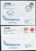 1985 Sweden Stockholm / Borlange SAS SAAB First Flight Covers (2)