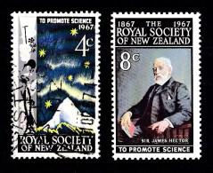 New Zealand 1967 Royal Society Centenary Set Of 2 Used - MNH - New Zealand
