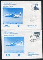 1983 Sweden Gothenborg - Malmo SAS Fokker First Flight Covers (2)