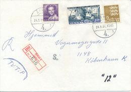 Registered Commercial Cover - 24 September 1984 Århus 4 (Århus C) - Denmark