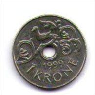 Norvegia Norge 1 Krone 1999 - Norvegia