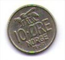 Norvegia Norge 10 Ore 1961 - Norvegia