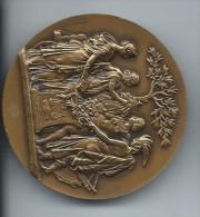 Médaille De Table/Les Quatre Continents/Bronze/Monnaie De Paris /vers 1980     MED20 - Andere