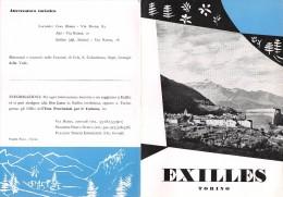 """02088 """" PIEGHEVOLE PUBBLICITARIO - DEPLIANT TURISTICO - EXILLES - TORINO"""" - Dépliants Turistici"""