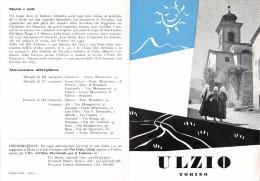 """02090 """" PIEGHEVOLE PUBBLICITARIO - DEPLIANT TURISTICO - ULZIO - TORINO"""" - Dépliants Turistici"""