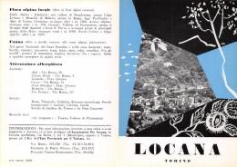 """02092 """" PIEGHEVOLE PUBBLICITARIO - DEPLIANT TURISTICO - LOCANA - TORINO"""" - Dépliants Turistici"""