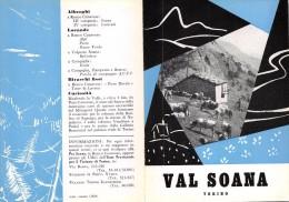 """02095 """" PIEGHEVOLE PUBBLICITARIO - DEPLIANT TURISTICO - VAL SOANA - TORINO"""" - Dépliants Turistici"""
