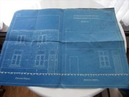 RUYSBROECK Hoogstraat ( Petrus Van Meulder ) Goedgekeurd Ontwerp Plan Voorgevel Anno1931 ( Zie Foto´s ) ! - Arquitectura