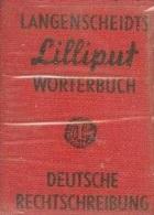 LANGENSCHEIDTS LILLIPUT NO.27, WORTERBUCH DEUTSCHE RECHTSCHREIBUNG, GERMAN SPELLING - Wörterbücher