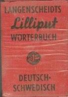 LANGENSCHEIDTS LILLIPUT DICTIONARY NO. 42, WORTERBUCH DEUTSCH SCHWEDISCH, GERMAN SWEDISH - Dictionnaires