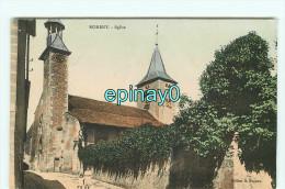 Br - 54 - NOMERY - église - RARE En COULEUR  - édition Hogron - Nomeny