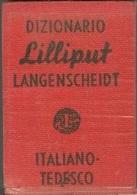 LANGENSCHEIDTS LILLIPUT DICTIONARY NO. 6, DIZIONARIO ITALIANO TEDESCO, ITALIAN GERMAN - Dictionaries