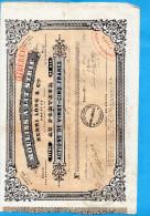 """MOULINS A LIT STRIE -H LONG &Cie -MARSEILLE-Action De 25 Francs  30 Mars1854 Cachets Fiscaux Au Dos-""""LIBEREE"""" - Industrie"""