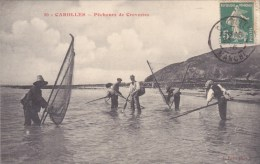 CAROLLES PECHEURS DE CREVETTES MER FILETS DE PECHE - France
