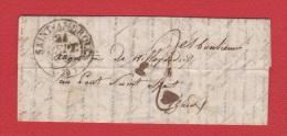 Lettre  // De St Ambroux  //  Pour Pont St Esprit //  21 Septembre 1833 - Storia Postale