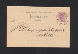 Dt. Reich GSK 1884 Gesmold - Storia Postale