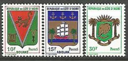 COTE D'IVOIRE N� 289 / 291 NEUF* * LUXE SANS CHARNIERE / MNH