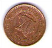 Bosnia Erzegovina 20 Feninga 1998 - Bosnia And Herzegovina