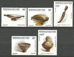 COTE D'IVOIRE N�  741 / 745 NEUF** LUXE / SANS CHARNIERE / MNH