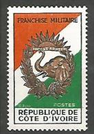 COTE D�IVOIRE FRANCHISE MILITAIRE  N�  1 NEUF** LUXE / SANS CHARNIERE / MNH