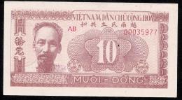 VIETNAM P59 10 DONG 1951 AU  ( Note Is UNC. But Have ONE Pin Hole ,then Grade AU ! !  ) - Vietnam