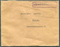 WW2 Finland Kenttapostia Fieldpost Feldpost Cover - Finland