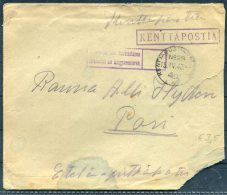 1940 Finland Kenttapostia Fieldpost Feldpost Censor Cover - Finland