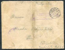 WW2 Finland Kenttapostia Fieldpost Feldpost Censor Cover - Finland