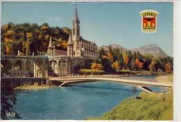 LOURDES - La Basilique, Le Gave Et Les Nouveaux Ponts Inaugurés Le 25 Mars 1966 - Inaugurazioni