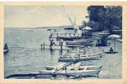 Lazio-roma-bracciano Veduta Lago Spiaggia Pattini Salvagente Animata - Altre Città