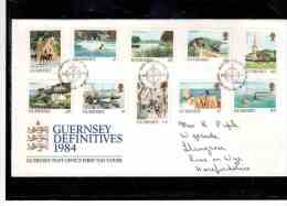 FDC195   -    GUERNSEY    /     FDC   MICHEL NR.  288A/297A - Guernesey